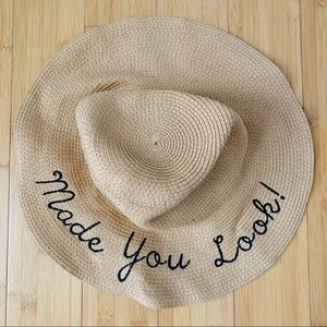 Floppy Straw Sun Beach Pool Hat Made You Look SzML
